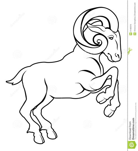 stylised ram illustration royalty free stock image image