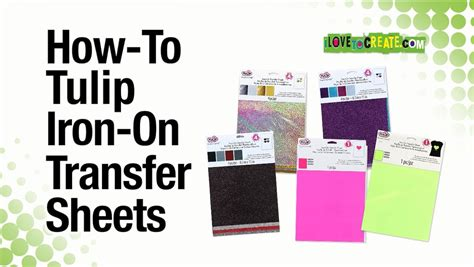 how to make printable iron on transfers how to tulip iron on transfer sheets youtube