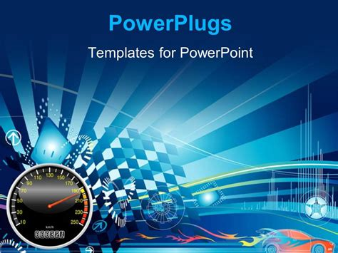 car powerpoint template powerpoint template depiction of car racing with