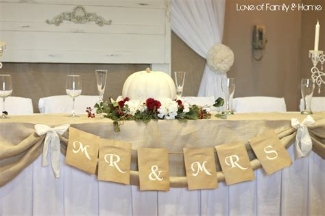 Wedding Table Banner by Fall Wedding Table Decorations Photograph Diy Wedding