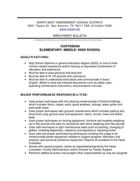 Janitor Resume Sample – Sample Resume For Janitorial   Sample Resume