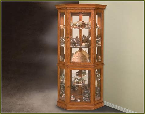 lighted corner curio cabinet attractive ideas design for lighted curio cabinet corner