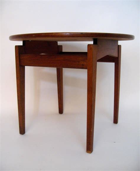 jens risom design walnut floating top side table at 1stdibs