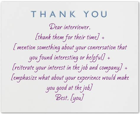sample thank you letter after interview via email new thank you
