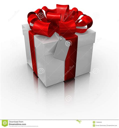 Computer Gift Cards - gift box with a blank card stock images image 17808424