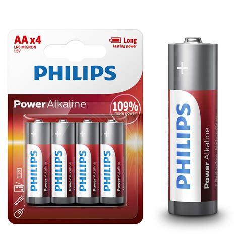 Battery Baterai Philips Alkaline High Power Original 100 Isi 4 Pcs philips 24 aa 24 aaa batteries alkaline lr6 lr03 lasting bulk exp 2026 ebay