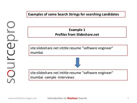 Boolean Resume Search Strings by Introduction To Boolean Search