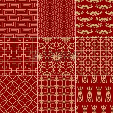 chinese pattern fabric vector vietnamese fabric red is considered lucky fabrics