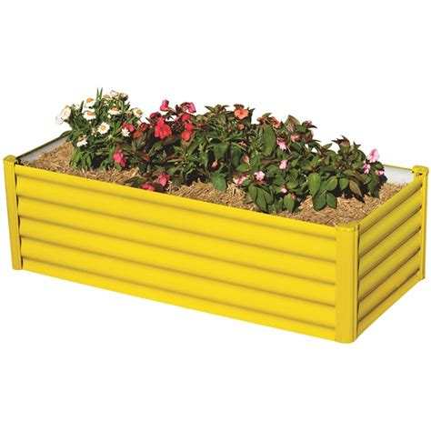 Raised Vegetable Garden Beds Bunnings My Garden 90 X 55 X 41cm Sunflower Yellow Small