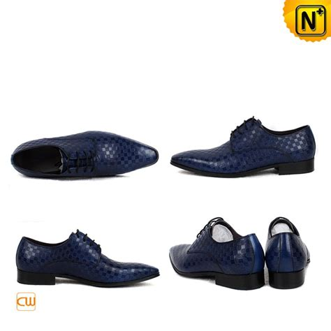 designer oxford shoes blue leather oxford dress shoes for cw762082