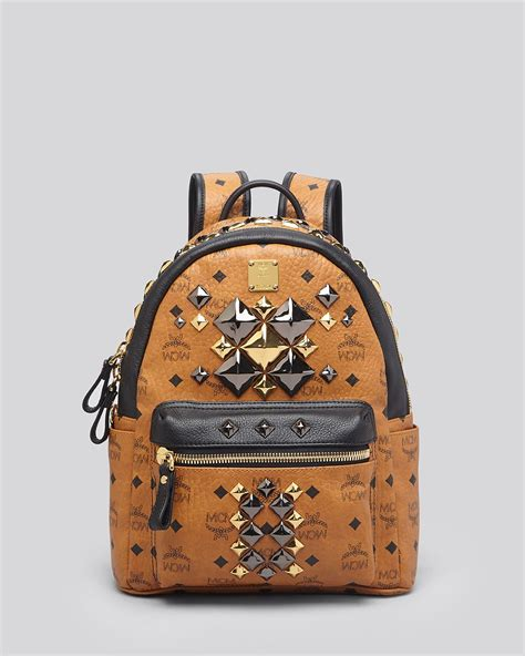 Studded Colour Block Backpack mcm backpack small stark brock colorblock studded in