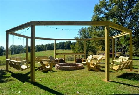 octagon fire pit swing octagon fire pit with swings fire pit ideas