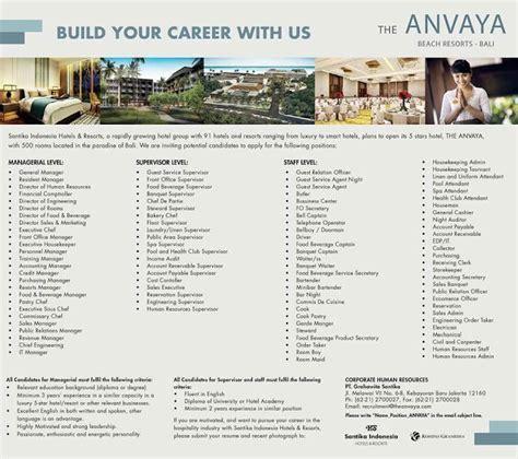 design engiinering lowongan kerja nya lowongan kerja hotel baru the anvaya beach resort bali