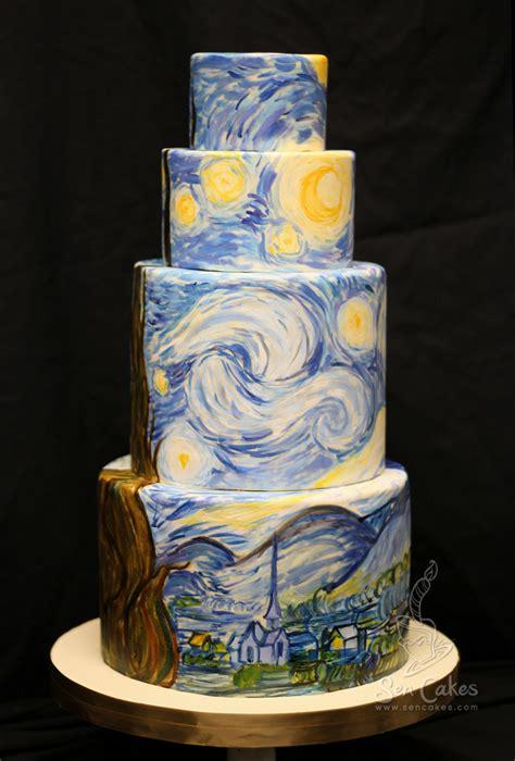 night of cake and starry night wedding cake cakestories ca