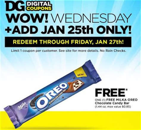 Dollar General Sweepstakes 2017 - free milka oreo chocolate candy bar at dollar general heavenly steals