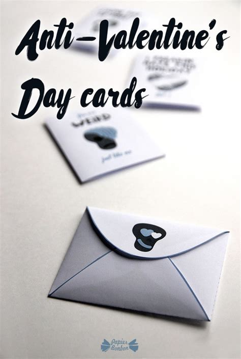 anti day card template anti s day card printable papier bonbon