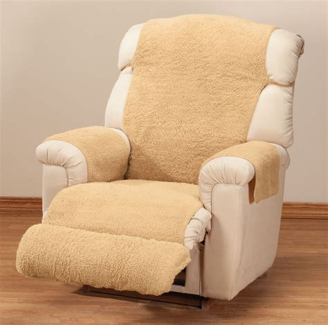 cover recliner miles kimball sherpa recliner cover by oakridge comfortstm
