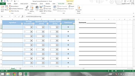 Dropbox In Excel | simple sum of dropbox values for scoring excel 2013