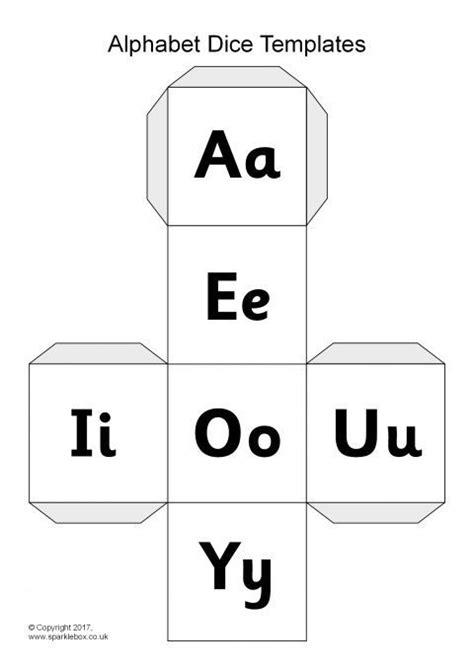 alphabet dice net templates sb12082 sparklebox