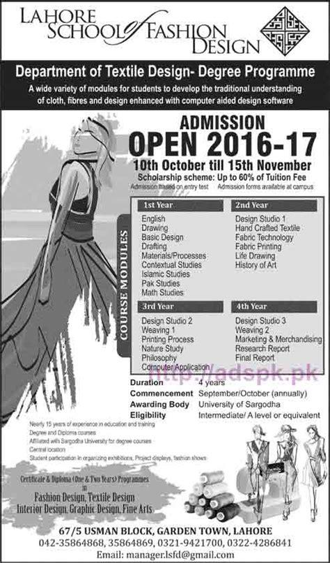 fashion design certificate jobs lahore school of fashion design admissions open 2016 2017