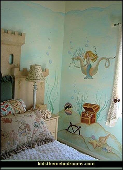 Mermaid Room Decor Decorating Theme Bedrooms Maries Manor Underwater Bedroom Ideas The Sea Theme