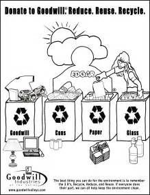 recycling coloring pages kid s corner goodwill industries of the valleys