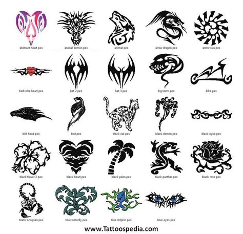 different types of tribal tattoo 28 kinds of designs types of animal tattoos