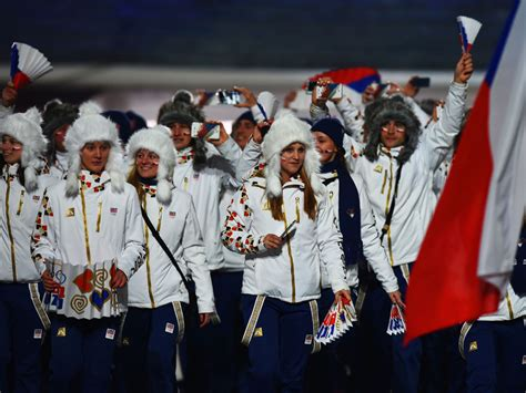 Sweater Wanita Korea Adidas Abstrak Navy best worst dressed at sochi olympics opening ceremony