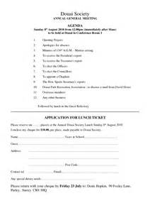 Annual General Meeting Minutes Template by Annual General Meeting Agenda Template 3 Best Agenda