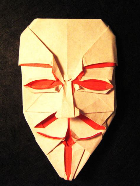 Origami Fawkes Mask - origami fawkes mask by lexar on deviantart