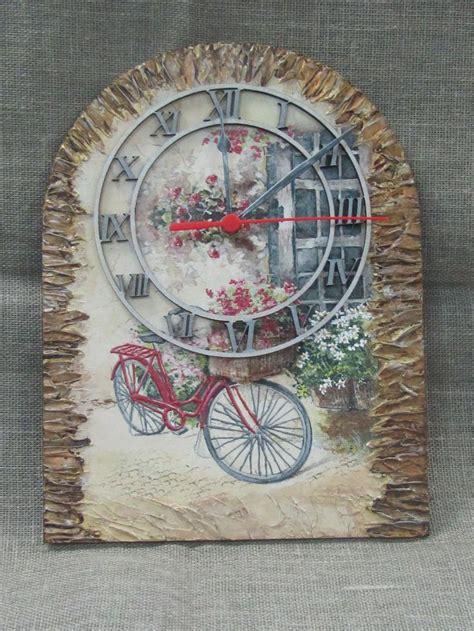 decoupage clock 164 best diy clocks images on