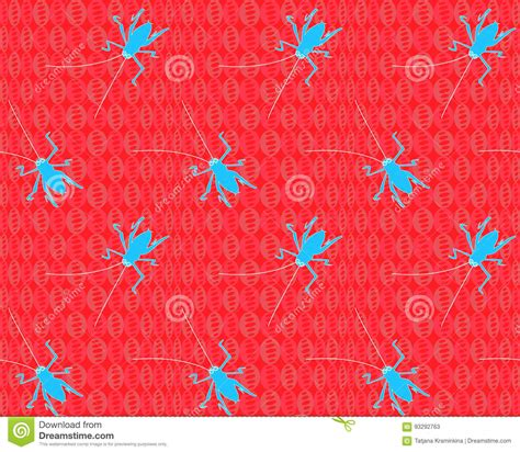 seamless pattern grasshopper vector image of an grasshopper vector illustration