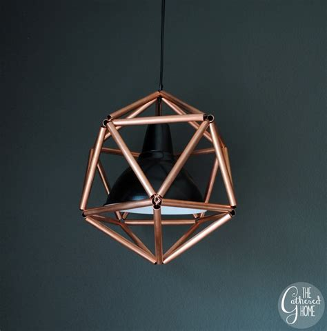 diy geometric pendant light diy copper pipe geometric pendant light house