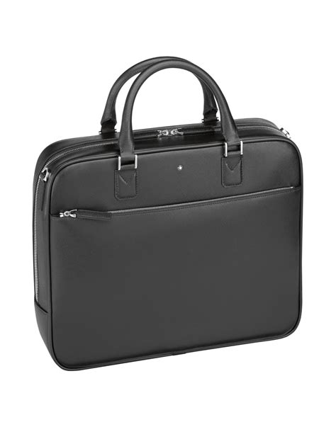 Bag Mont Blanc 3264a lyst montblanc work bags in black for