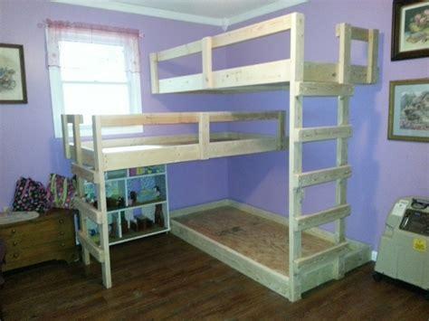 homemade loft bed diy triple bunk bed