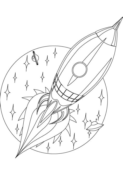 Free Coloring Pages Of Rocket In Space Rocket Coloring Page