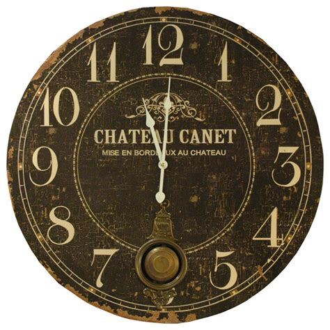 country clock chateau country antique brass large wall clock
