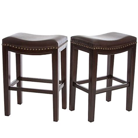 backless brown leather counter stools jaeden backless brown leather counter stools set of 2