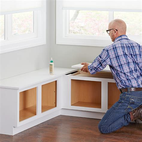 how to build a corner bench seat corner bench