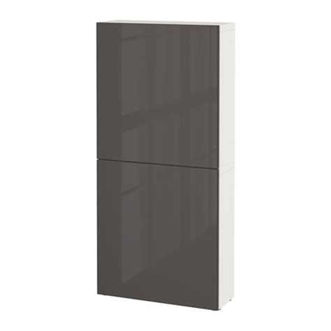 besta wall cabinet best 197 wall cabinet with 2 doors white selsviken high