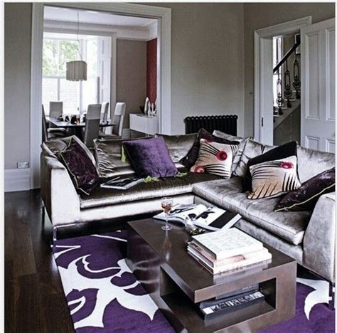 purple and silver room purple living room with silver couch yellow and purple