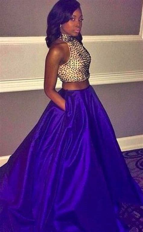 black girls  slayed prom  royal blue prom
