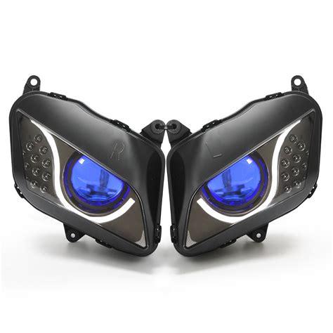 motorcycle halo headlights halo kits projector hid kits aliexpress com buy motorcycle headlight assembly 55w led