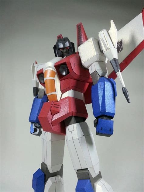 Transformers Papercraft - paper crafts transformer animated starscream