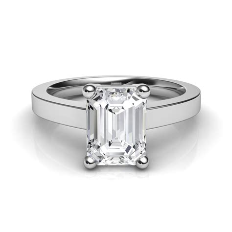 Emerald Cut Engagement Rings by Novo Emerald Cut Solitaire Engagement Ring In 14k