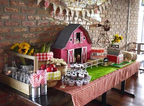 farm themed decorations kara s ideas mcdonald farm themed birthday