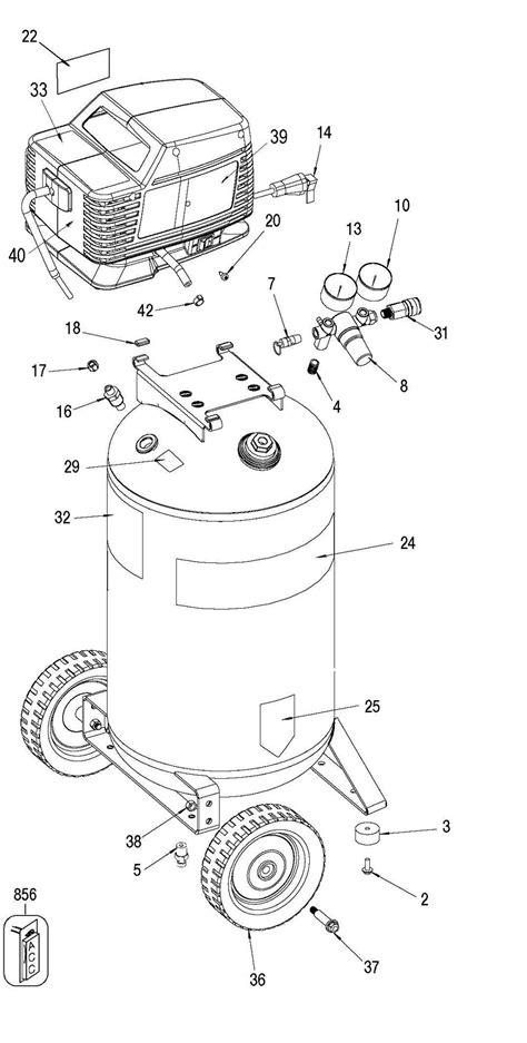 sears craftsman 919 167370 air compressor parts