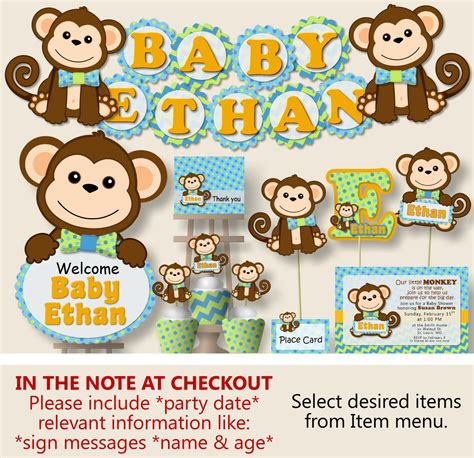 monkey birthday cake template boy monkey baby shower decorations monkey birthday