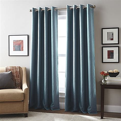 teal curtains bed bath and beyond buy london 95 inch grommet top window curtain panel in