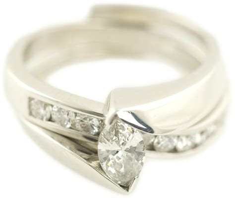can you finance wedding rings 11 ct marquise shaped wedding rings pave set by